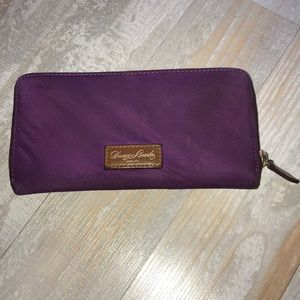 Donney & Bourke Purple Wallet with zip closure